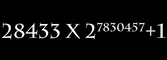 Project Euler 97: Find the last ten digits of the non-Mersenne prime: 28433 × 2^7830457 + 1